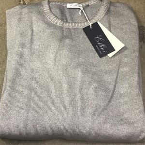 Cellini Italian Wool Light Grey Sweater 58